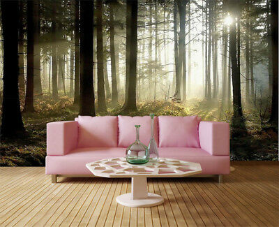 Misty Pulpy Tree 3D Full Wall Mural Photo Wallpaper Printing Home Kids Decor