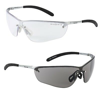Bolle Silium Safety Glasses Anti-Scratch Anti-Fog Clear / Smoke Lens