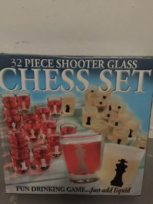 32 piece shooter glass chess set
