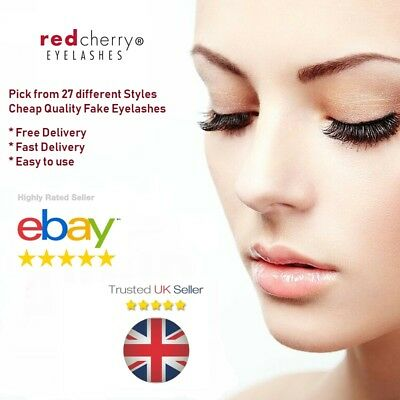 Red Cherry Eyelashes 100% Human Hair False High Quality Lashes TOP QUALITY UK