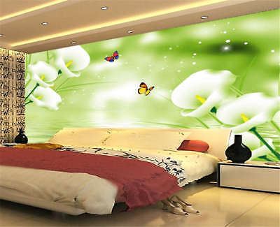 Odorous Pulpy Violet 3D Full Wall Mural Photo Wallpaper Printing Home Kids Decor