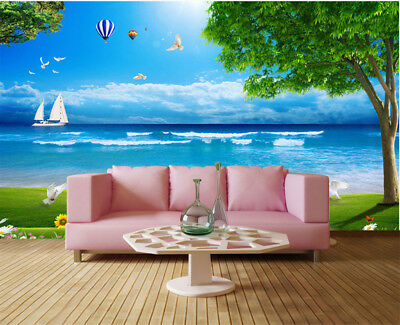 Sunny Pulpy Island 3D Full Wall Mural Photo Wallpaper Printing Home Kids Decor