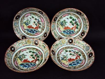 Impressive Chinese Antiques Oriental Porcelain Famille Rose Dishes