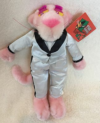 "Kellytoy 10"" Silver Tuxedo Pink Panther 1999 with Tags"