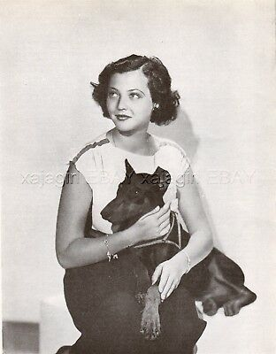 DOG Manchester Terrier with Actress Sylvia Sidney, Vintage Print 1930s