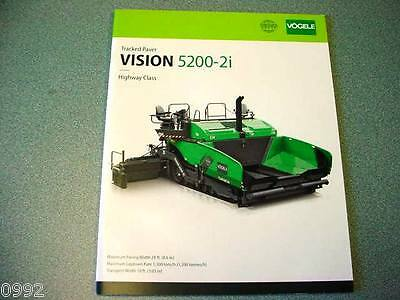 Vogele Super 5200-2i Tracked Paver Brochure
