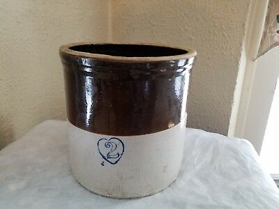 Vintage/ original Stoneware Crock 2 Gallon Stamped very good condition