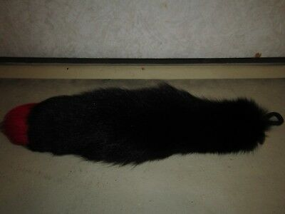 Cosplay Black W/Red Tip Fox Tail