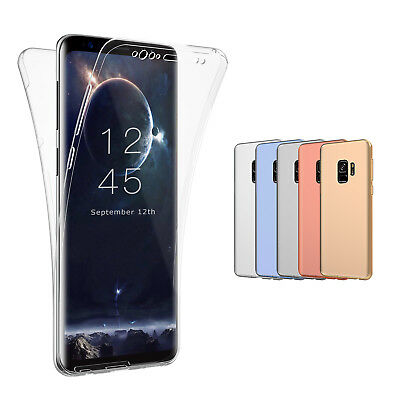 For Samsung Galaxy S9 S9Plus S8 S10 Clear Rubber Cover Full-body Shockproof Case