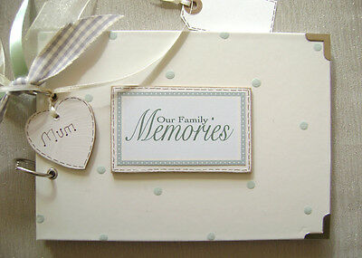PERSONALISED our family memories A5 SIZE. PHOTO ALBUM/SCRAPBOOK/MEMORY BOOK