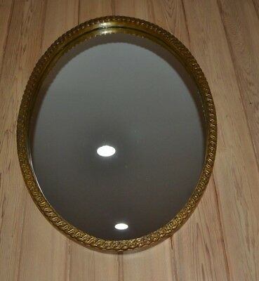 33 Stunning Vintage Oval Mirror Gold Antique Frame Small Floral Design