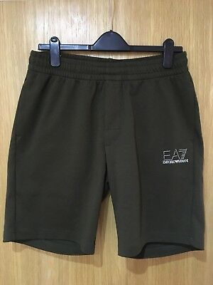 Brand New Emporio Armani Shadow Line Shorts Olive Green Size Xl