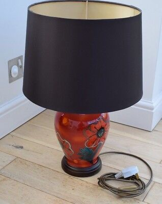 Poole pottery lamp base 2000 picclick uk poole pottery poppy field ginger jar table lamp excellent condition mozeypictures Images