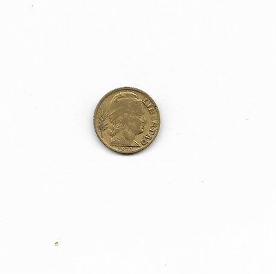 Argentina coin, 1944, 5 centavos, WWII, circulated