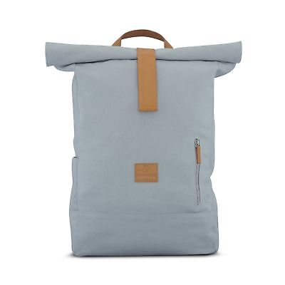 6b5026f57ace Canvas Backpack Men   Women Grey - JOHNNY URBAN Cotton Roll Top Daypack -  Dur.