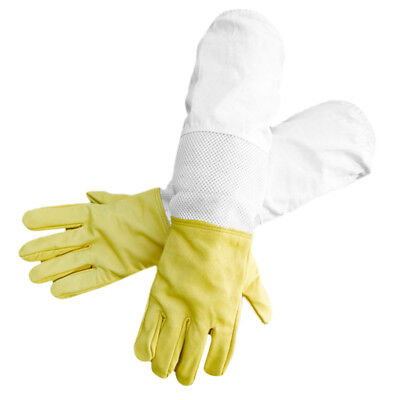 Beekeepers Bee Gloves Protective Beekeeing Long Sleeve Soft Gloves Yellow