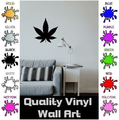 Music And Weed Cannabis Wall Sticker WS-19719