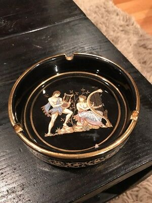 Vtg Greek Pottery Ash Tray Replica Hellenic Art Greece Museum BC Copy Mycenaen