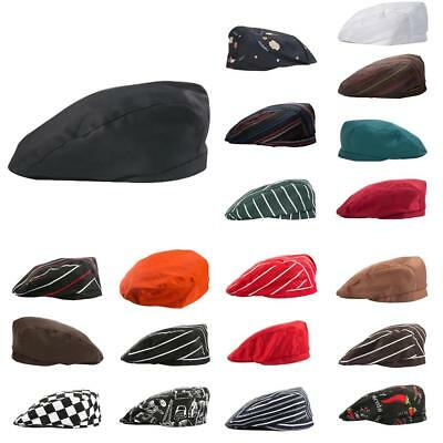 Chef Hat Cotton Cook Cap Beret Work Wear Kitchen Restaurant Cafe Hat 20 Types