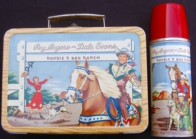 VINTAGE ROY ROGERS LUNCHBOX - 1st RR Kit (1953 Narrow) R-7 Rare C-8.5/C-9 Minty!