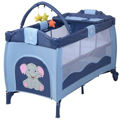 Costway Portable Infant Baby Travel Cot Bed Play Pen Child Bassinet Playpen W 2