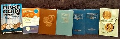 Vintage Coin Book Lot Of Seven Guides