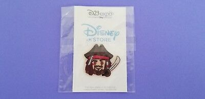 New! D23 Expo 2017 Disney Store Summer Play Days Pirate Jack Sparrow Emoji Patch