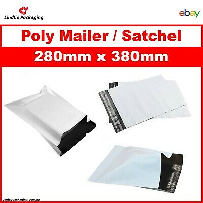 300x Poly Mailer Courier Satchel Self-adhesive Plastic Shipping Bag 280 x 380mm