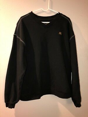 McDonalds Apparel Collection Black Sweater Longsleeve Sz Adult XLarge - Rare
