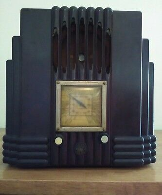 AWA Radio Empire State Brown Bakelite The Fisk Radiolette R48 See Discription