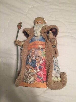 "Christmas Wonderment Santa 2007 G. DeBrekht Artistry on Canvas 18"" #94005"