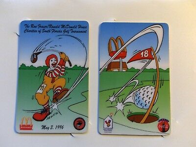 Vintage 1996 Ronald McDonald House Golf Tournament Phone Cards