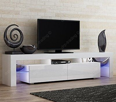 Amazing Cheap Modern Tv Unit Cm Cabinet White Matt And White High Gloss  Free Led Rgb Lights With Tv Lowboard Cm With Tv Lowboard Led.