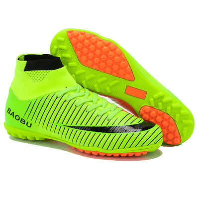 Men s Indoor Soccer Football Boots Turf Ankle Top Soccer Cleats Shoes  Trainers dc0ef65c321c