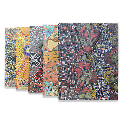 brand new Aboriginal paper carry/gift bags with lace handles shopping bags