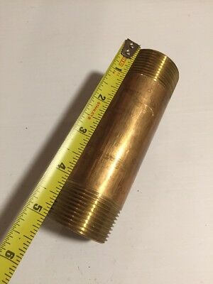"Brass Pipe Nipples 11/4"" X 5"""