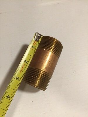 "Brass Pipe Nipples 11/4"" X 3"""