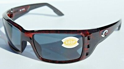 913e363fc7d COSTA DEL MAR Permit POLARIZED Sunglasses Tortoise Gray 580P NEW  169