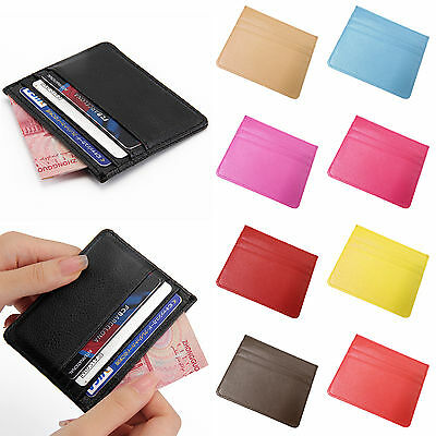 New PU Leather Slim Thin Credit Card Holder Mini Wallet ID Case