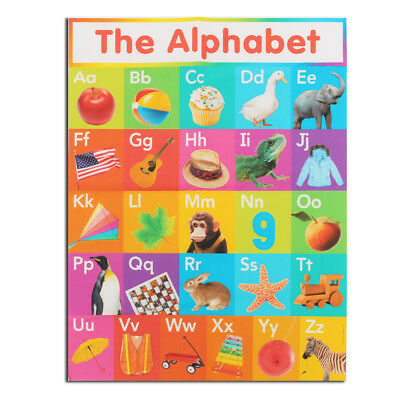 My ABC Alphabet Learn Children's Educational Silk Cloth Poster Decor 45cmx34cm