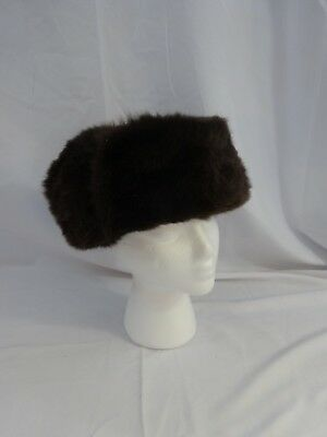 0f7bd3390 RABBIT FULL FUR Russian Ushanka Hat Real Fur Hat Chapka Black ...