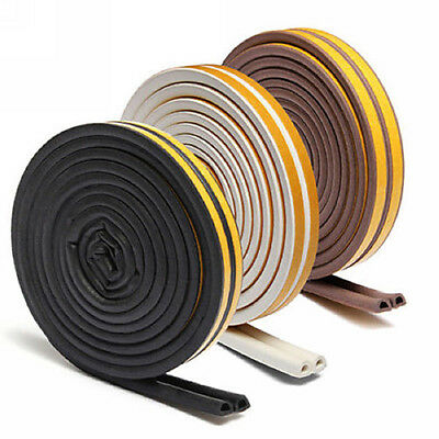 5M Self Adhesive Home Window Door Draught Rubber Excluder Foam Seal Strip Groovy