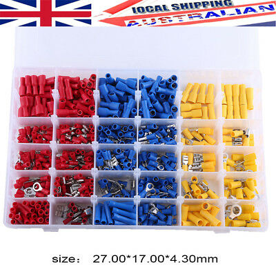 Assorted Crimp Terminals Set Insulated Electrical Wiring 720pcs Connector Set