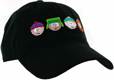 NWT South Park Group Dad Hat Unisex 1 sz fits all Black ADJUSTABLE STRAPBACK
