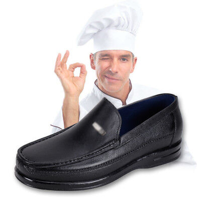 Food Industry Safety Work Shoes Chef's Catering Hospital Black Anti Slip Oil Men
