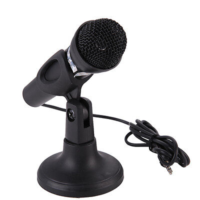 New 3.5mm Aux Jack Wired Sound Handheld Microphone with Adjustable Mount Holder