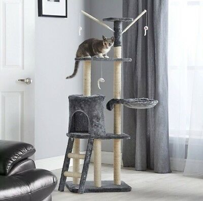 Cat Activity Center Scratching Post Toy Bed Kitten Scratcher Tree Large Tower UK