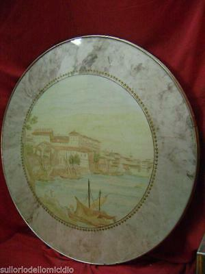 Very rare table decorated years 40 umberto mascagni - exemplary 2