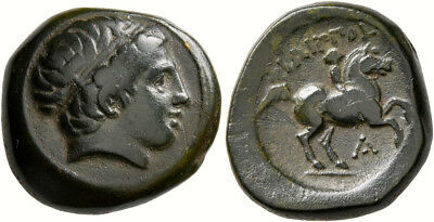 Ancient bronze coin, Kings of Macedon. Philip II of Macedonia (359-336 BC).