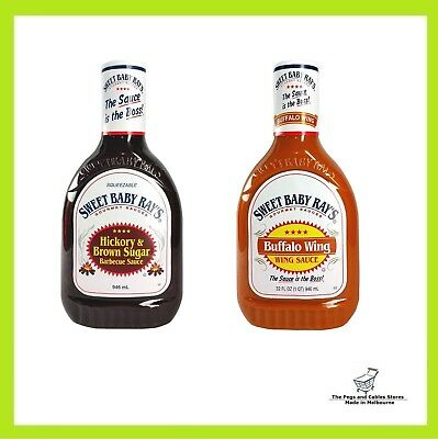 Sweet Baby Ray's Hickory Brown Sugar Barbecue & Buffalo Wing Sauce (946mL each)
